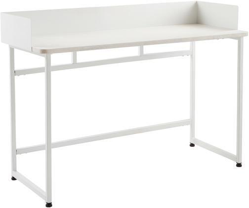 Schmaler Schreibtisch Liberty in Weiß