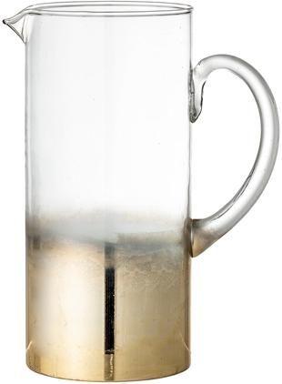 Karaffe Iska aus Glas mit goldenen Details, 1.5 L