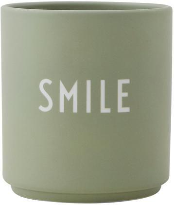 Taza con frase de diseño Favourite SMILE