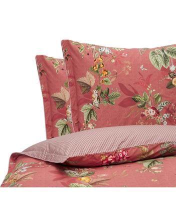 Baumwollperkal-Wendebettwäsche Fall in Leaf mit dekorativen Schleifen, floral/gemustert