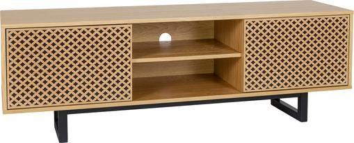 TV-Lowboard Camden mit Türen und Eichenholzfurnier