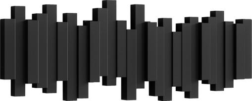 Garderobenhaken mit Stäbchendesign in Schwarz