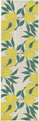 In- & Outdoor-Läufer Limonia mit Zitronen Print
