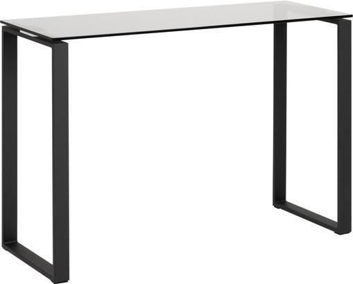 Consolle in vetro con struttura nera Katrine