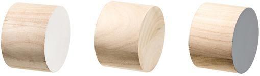Kleiderhaken-Set Dendi aus Holz, 3-tlg.