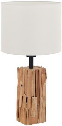 Tischlampe Portishead mit Holzfuß