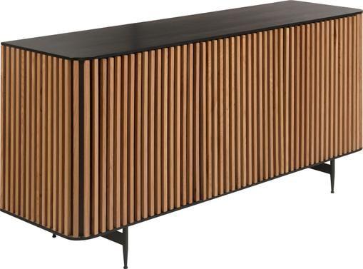 Design-Sideboard Linea mit Türen und Eichenholzfurnier