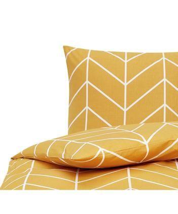 Bavlnená posteľná bielizeň s grafickým vzorom Mirja