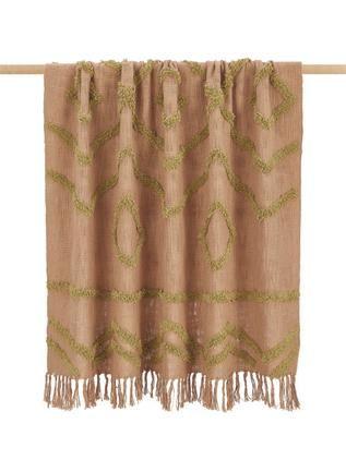 Baumwolldecke Fringe mit getufteter Verzierung