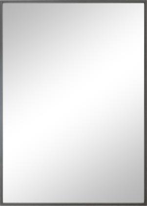 Eckiger Wandspiegel Alpha mit grauem Rahmen