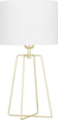 Tischlampe Karolina in Weiß-Gold
