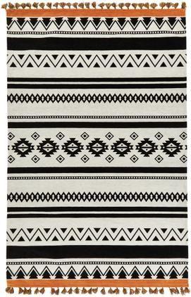 Alfombra kilim con borlas Afar, estilo étnico