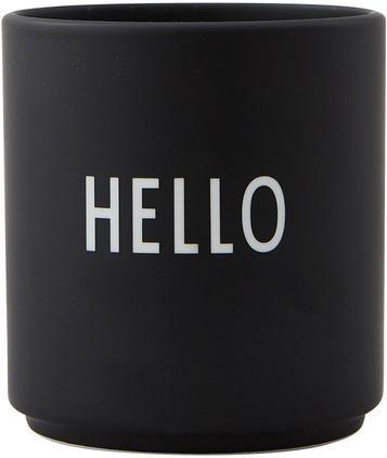 Taza con frase de diseño Favourite HELLO