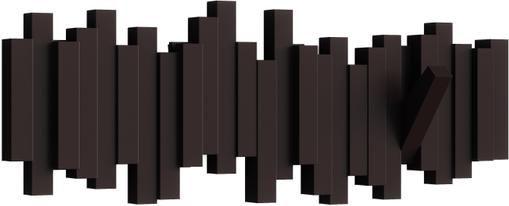 Garderobenhaken Sticks in Braun