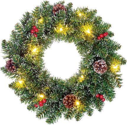 Künstlicher LED-Weihnachtskranz Creston Ø 35 cm