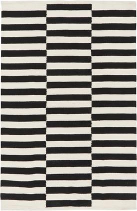 Handgewebter Kelim-Teppich Donna mit Streifen