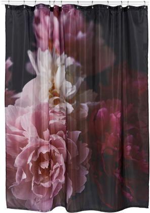 Duschvorhang Rosemarie mit Blumen-Muster