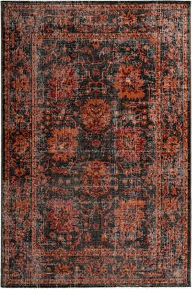 In- & Outdoor-Teppich Tilas in Orange/Grau, Orient Style