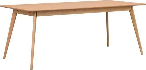 Holz-Esstisch Yumi mit Eichenholzfurnier