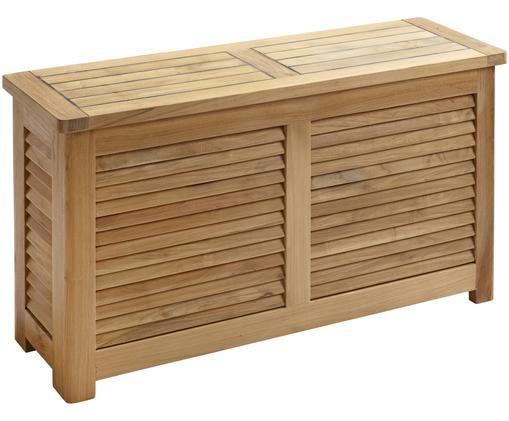 Schmale Auflagentruhe Storage aus Holz