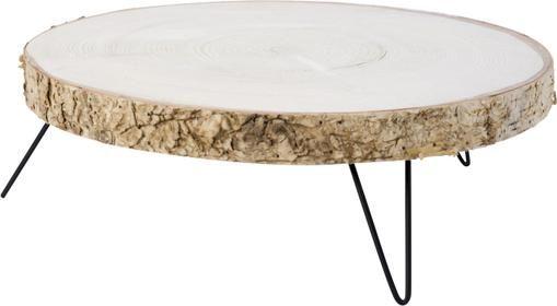 Tortenplatte Natural aus Holz, Ø 35 x H 12 cm