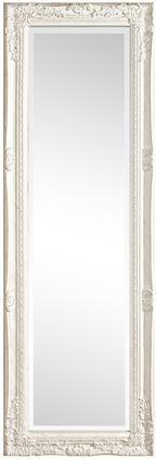 Eckiger Wandspiegel Miro mit weißem Holzrahmen