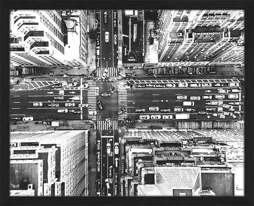 Gerahmter Digitaldruck Aerial View Of New York