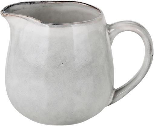 Handgemachtes Milchkännchen Nordic Sand aus Steingut, 300 ml