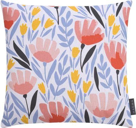 Gemusterte Kissenhülle Modern Flowers