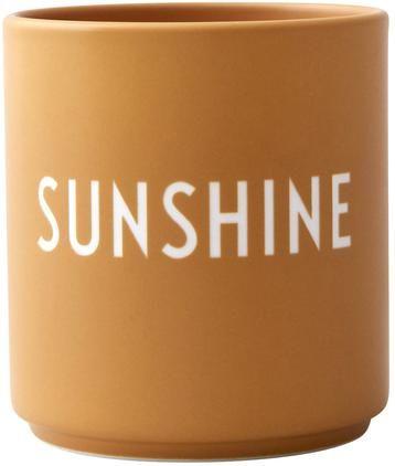 Taza con frase de diseño Favourite SUNSHINE