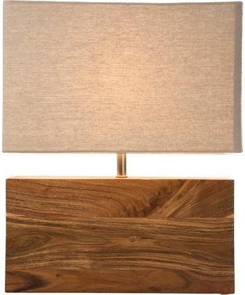 Tischlampe Rectangular aus Akazienholz
