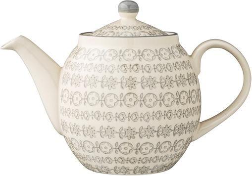 Handgefertigte Teekanne Karine mit kleinem Muster, 1.2 L