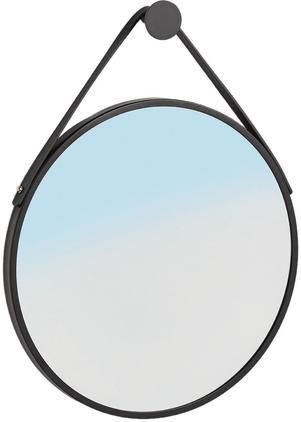 Nástenné zrkadlo s čiernym rámom Kunka