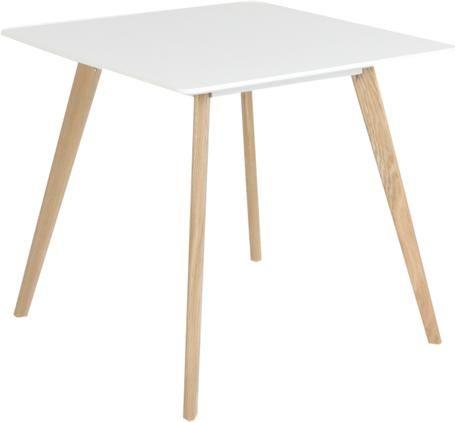 Kleiner quadratischer Esstisch Flamy im Skandi-Design