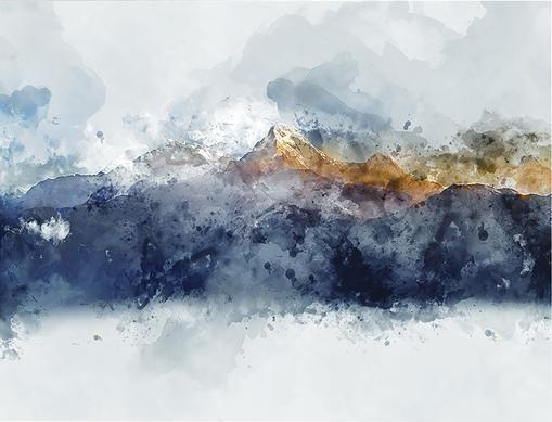 Leinwanddruck Abstract Mountain