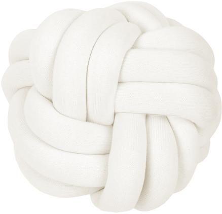 Knoten-Kissen Twist in Weiß