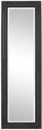 Nástenné zrkadlo s čiernym dreveným rámom Miro