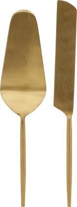 Tortenheber Lite in Gold aus Edelstahl, 2er-Set