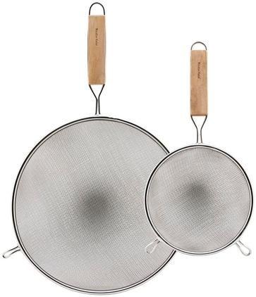 Küchensiebe Paka mit Holzgriff, 2er-Set