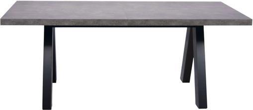 Mesa de comedor extensible Apex, tablero en aspecto mármol