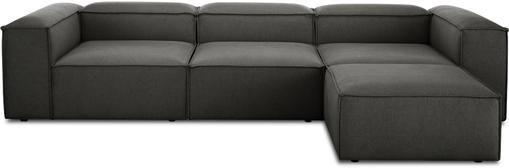 Modulares Sofa Lennon (4-Sitzer) mit Hocker in Anthrazit