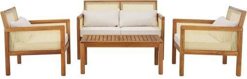 Garten-Lounge-Set Vie mit Wiener Geflecht, 4-tlg.