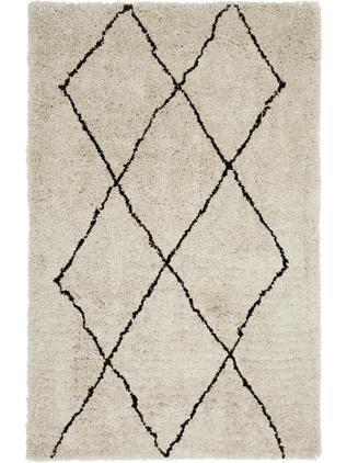 Flauschiger Hochflor-Teppich Nouria, handgetuftet