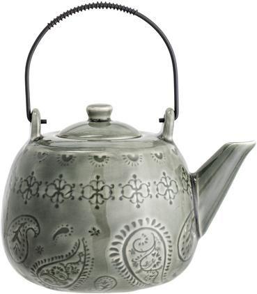 Handgemachte Teekanne Rani mit Craquelé Glasur und Teesieb