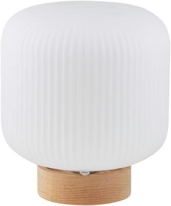 Skandi-Tischlampe Milford aus Opalglas