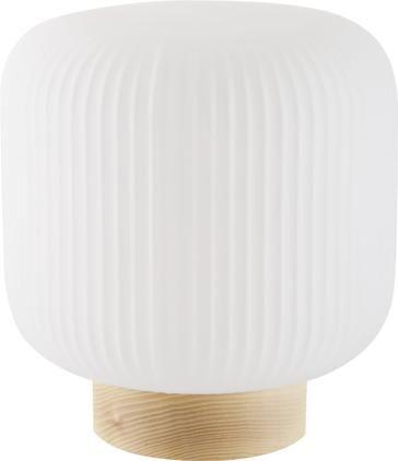 Kleine Nachttischlampe Milford im Skandi-Style