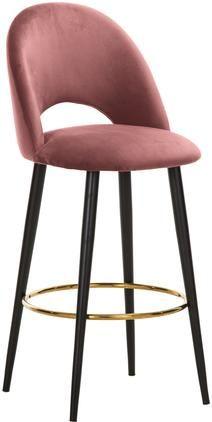 Sametová barová židle Rachel