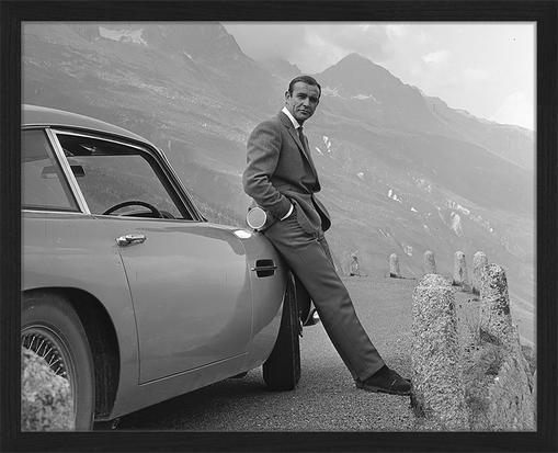 Gerahmter Digitaldruck Sean Connery (James Bond)