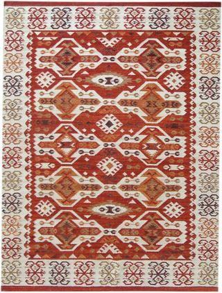 Alfombra artesanal de lana Kilim