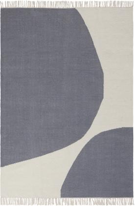 Handgewebter Kelimteppich Stones mit abstraktem Muster